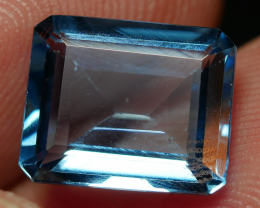 4.60 CRT LOVELY SWISS BLUE TOPAZ VERY CLEAR-