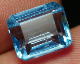 4.90 CRT LOVELY SWISS BLUE TOPAZ VERY CLEAR-