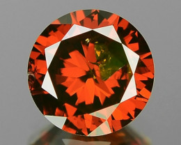 0.57 Cts Sparkling Very Rare Fancy Deep Red Color Loose Diamond