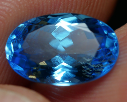 3.45 CRT LOVELY SWISS BLUE TOPAZ VERY CLEAR-