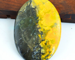 Genuine 141.00 Cts Bumble Bee Jasper Oval Shape Cabochon
