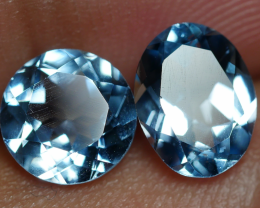 3.00 CRT GORGEOUS SKY BLUE TOPAZ PAIR-