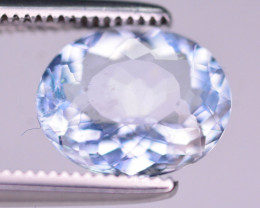 1.65  Ct Superb Color Natural Blue Aquamarine