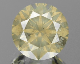 1.57 Cts Untreated Natural Fancy Greenish Yellowish Brown Diamond