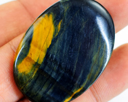 Genuine 67.00 Cts Iron Tiger Eye Oval Shape Cabochon