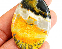 Genuine 63.00 Cts Bumble Bee Jasper Oval Shape Cabochon