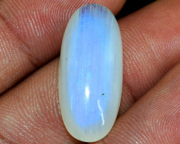 Genuine 22.00 Cts  Untreated Blue Flash Moonstone Cabochon