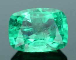 AIG Certified Top Color 1.28 ct Zambian Emerald SKU-28