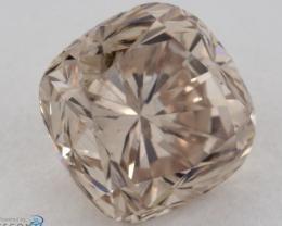 GIA certified  + Video Natural Fancy Light Brown Yellow Diamond