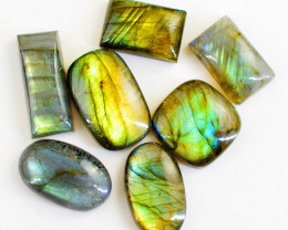 Genuine 195.00 Cts Untreated Amazing Flash Labradorite Cabochon Lot
