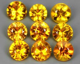 1.75 Cts Natural Intense Beautiful Yellow Sapphire Round Shape Madagascar