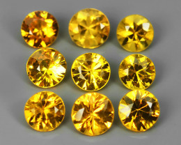 1.45 Cts Natural Intense Beautiful Yellow Sapphire Round Shape Madagascar