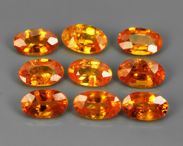 2.80 Cts_Oval Cut_Marvelous_Electric Orange_Africa_Sizzling_Spessarite_~