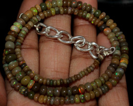 47 Crt Natural Ethiopian Welo Fire Opal Beads Necklace 163