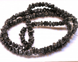 46CTS BLACK DIAMONDS GENUINE NATURAL STRAND TBG-62