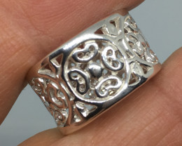 Sterling Silver Intricate Filigree Celtic Ring  !