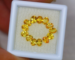 2.90ct Yellow Sapphire Mix Oval Pear Cut Lot V3092