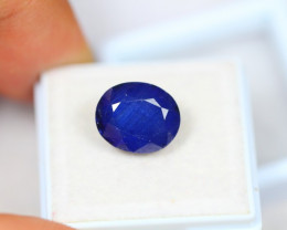 7.51ct Blue Sapphire Composite Oval Cut Lot V3094