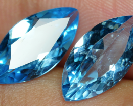 6.05 CRT GORGEOUS SKY BLUE TOPAZ PAIR-