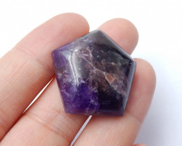 Trilliant Purple Amethyst Cabochon  | Natural Amethyst Cabochon A942