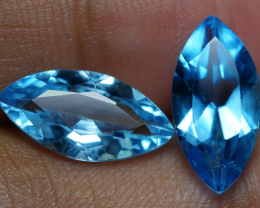 6.10 CRT GORGEOUS SKY BLUE TOPAZ PAIR-