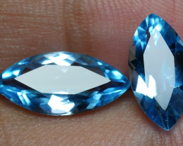 4.65 CRT GORGEOUS SKY BLUE TOPAZ PAIR-
