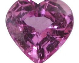 0.78 ct Heart Shape Pink Sapphire  (Rich Pink)