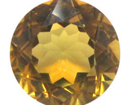 6.54 ct Round Citrine  (Golden Yellow)