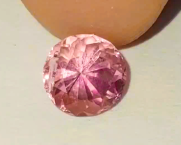NR! 0.71 CT Top-Color Unheated Vivid NEON Pink Paprok Tourmaline