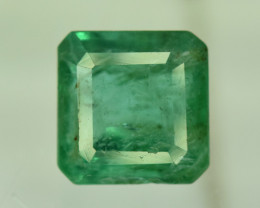 2.70 ^ Carats Emerald Cut Natural Zambian Emerald Gemstone