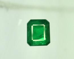 0.85 ^ Carats Emerald Cut Natural Clean Rare Panjsher Emerald Gemstone