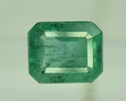 1.60 ^ Carats Emerald Cut Natural Zambian Emerald Gemstone