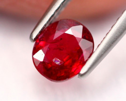 0.87Ct Natural Burmese Vivid Pigeon Blood Red Ruby Heated Only ~ B1101