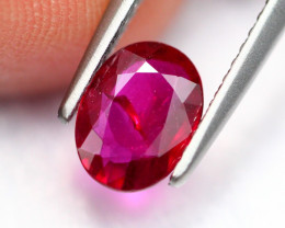 0.90Ct Natural Burmese Vivid Pigeon Blood Red Ruby Heated Only ~ B1103