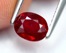 0.78Ct Natural Burmese Vivid Pigeon Blood Red Ruby Heated Only ~ B1106