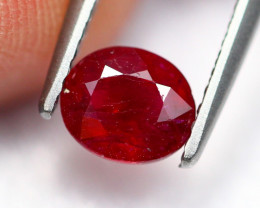 0.91Ct Natural Burmese Vivid Pigeon Blood Red Ruby Heated Only ~ B1109