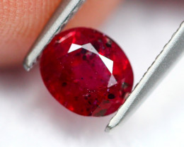 1.18Ct Natural Burmese Vivid Pigeon Blood Red Ruby Heated Only ~ B1110