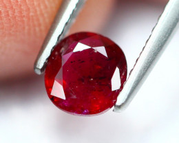 0.81Ct Natural Burmese Vivid Pigeon Blood Red Ruby Heated Only ~ B1111