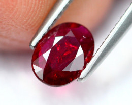 0.75Ct Natural Burmese Vivid Pigeon Blood Red Ruby Heated Only ~ B1112