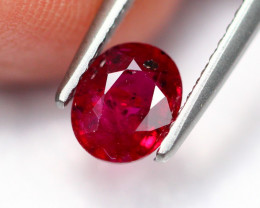 1.01Ct Natural Burmese Vivid Pigeon Blood Red Ruby Heated Only ~ B1113