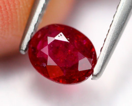0.75Ct Natural Burmese Vivid Pigeon Blood Red Ruby Heated Only ~ B1114