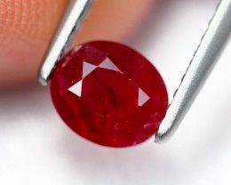 0.81Ct Natural Burmese Vivid Pigeon Blood Red Ruby Heated Only ~ B1115