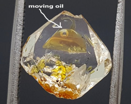 2.90CT RARE MOVING OIL PETROLUEM QUARTZ  BEST QUALITY GEMSTONE IGC44