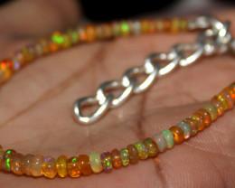 19 Crt Natural Ethiopian Welo Fire Opal Beads Bracelet 14