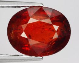 2.91 Ct Spessartite Garnet Pure Red Gem Quality Gemstone SG43