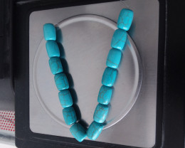 TURQUOISE BLUE HOWLITE BEAD STRAND 156.40 CARAT WEIGHT