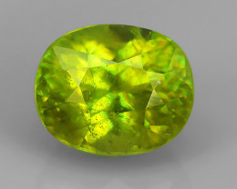 2.35 Cts EXTRME LUSTER RARE NATURAL MULTI GREENISH-YELLOW SPHENE GEM!!