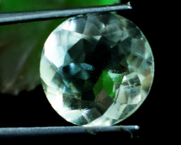 Genuine 11.00 Cts Round Shape Prasiolite Faceted Cabochon