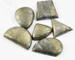 Genuine 209.00 Cts Golden Pyrite Gemstone Lot