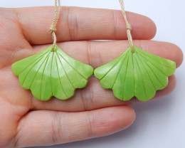 Beautiful carved leave earring pairs wholesale gemstone designer A961